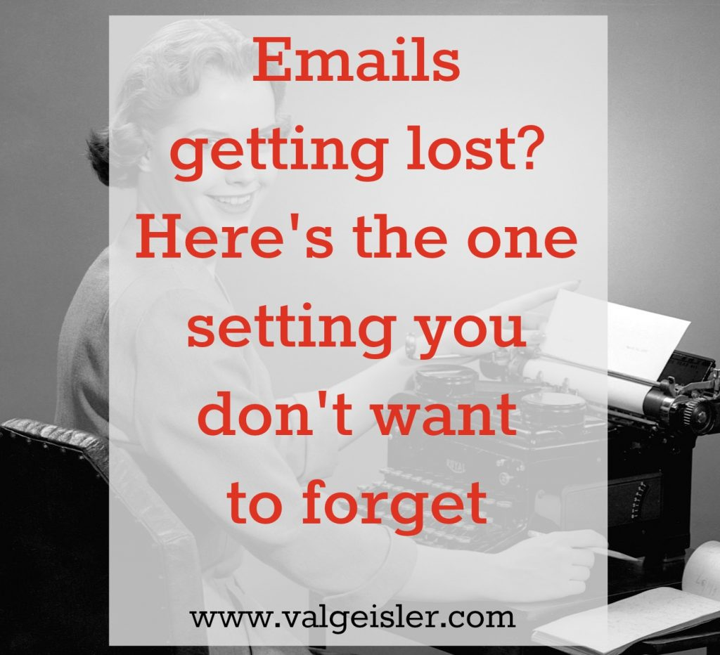 lost emails